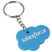 Salesforce Cloud Rubber Key Chain