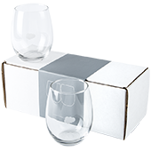 Stemless Wine Glass Set - 15 oz.