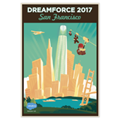 DF San Francisco Zip Line Poster