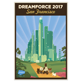 DF San Francisco Emerald City Poster