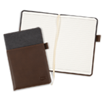 Alternative® Canvas Leather Wrap Notebook