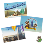 Salesforce Tower Postcards