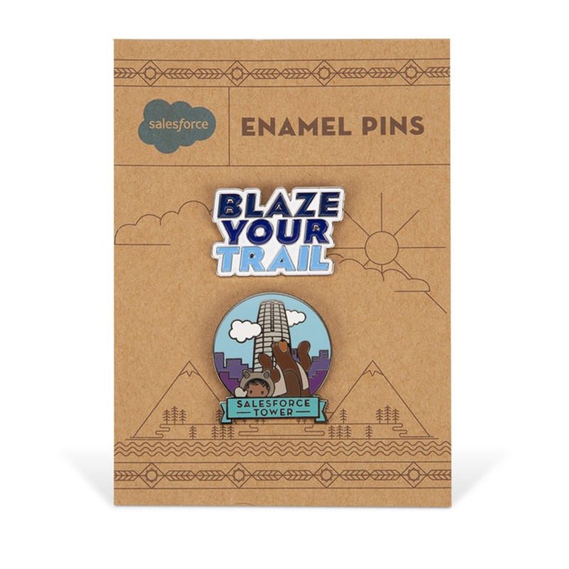 Blaze Your Trail and Tower Pin Set