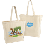 Character Bicycle Canvas Tote