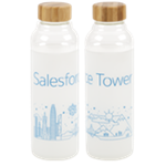 Tower Bali Glass Bottle - 18 oz. Frost