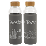 Tower Bali Glass Bottle 18 oz. Graphite