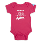 Infant I'm With Astro Hot Pink One Piece