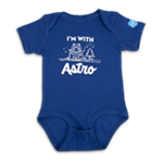 Infant I'm With Astro Royal Blue One Piece