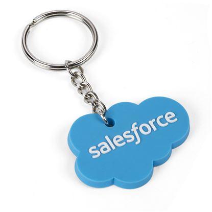 Salesforce Cloud Rubber Key Chain 547b5bbbb