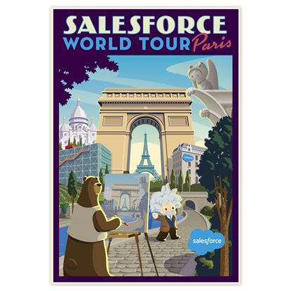 World Tour Paris Poster