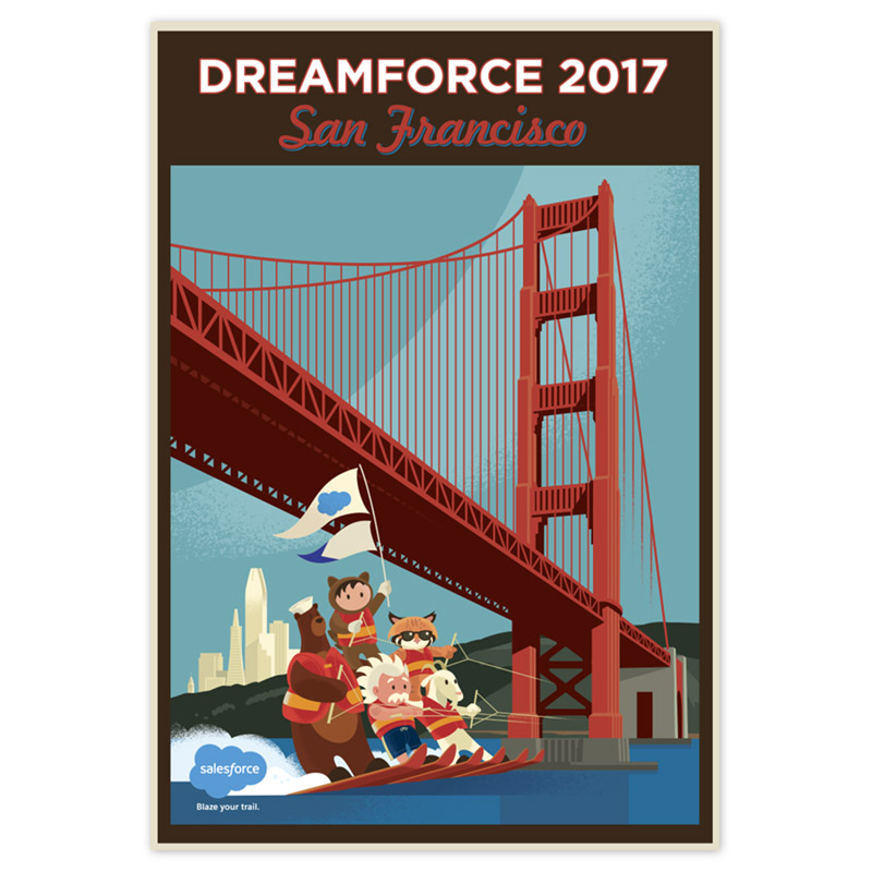 DF San Francisco Waterski Poster