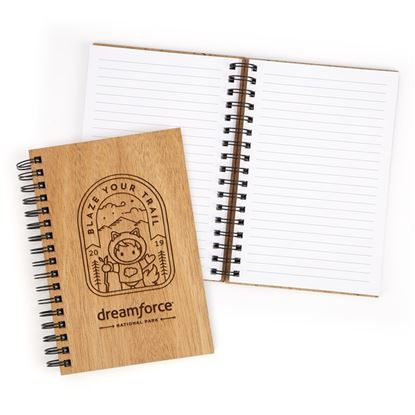 Dreamforce Wood Spiral Notebook